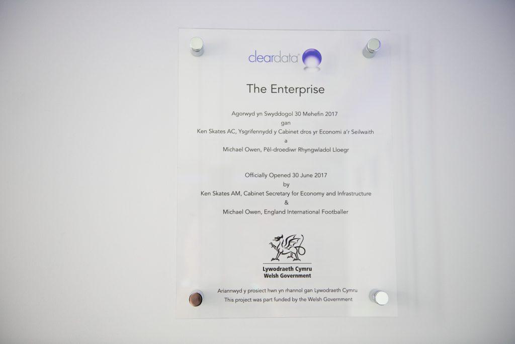 Cleardata Opening Event - Plaque
