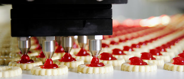 Food being manufactured